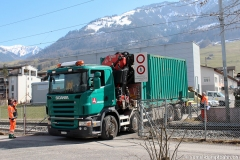 """Anlieferung Container <br class=""""clear""""/> 10. März 2015"""